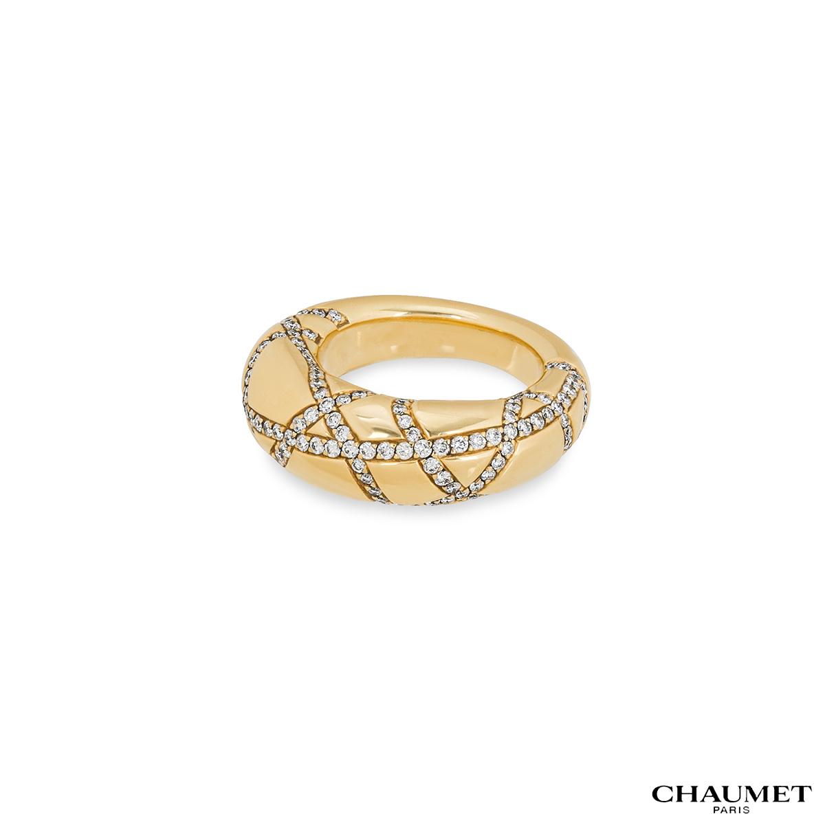 Chaumet Yellow Gold Diamond Dress Ring